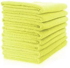 Microfibre Cloths  Yellow   Pro 10 pack