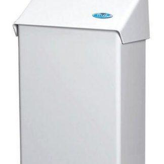 Sanitary Napkin Receptacle Bin - Metal, White  (Frost 620)