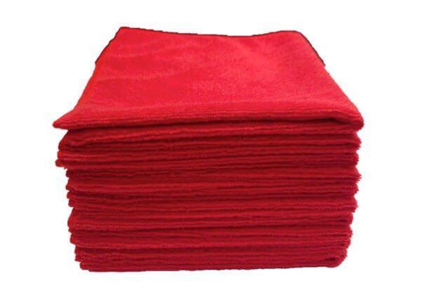 Microfiber Cloths   Red   Pro 10 pack